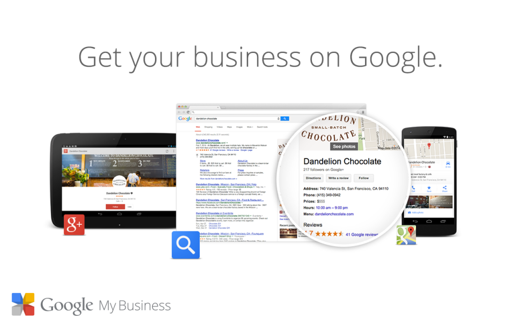 google my business directory links